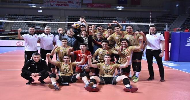 Volleyball European Championship Men Cup'ta temsil eden Ziraat Bankası Erkek voleybol takımı  çeyrek final maçı