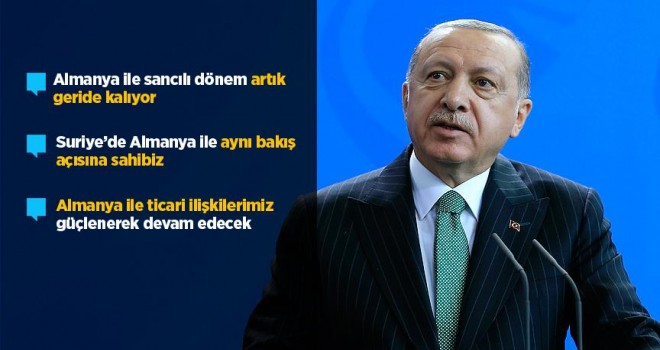 Cumhurbaşkanı Erdoğan: Ziyaret Türk-Alman dostluğunu daha da perçinleyecek