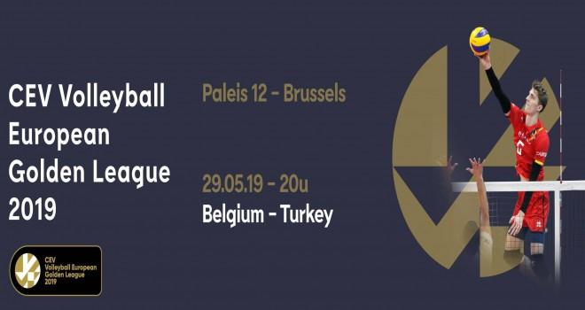 Türkiye A Erkek Milli Takımımız Belçika A Erkek Milli Takımı ile Brüksel Paleis´de karşı karşıya geliyor