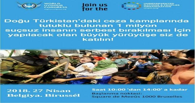 Doğu Türkistan davasına ve Uygur Türklerine sahip çıkalım. Büyük yürüyüşe siz de katılın!