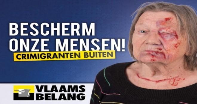 'Kriminal göçmenlere' karşı şok eden Vlaams Belang kampanyası