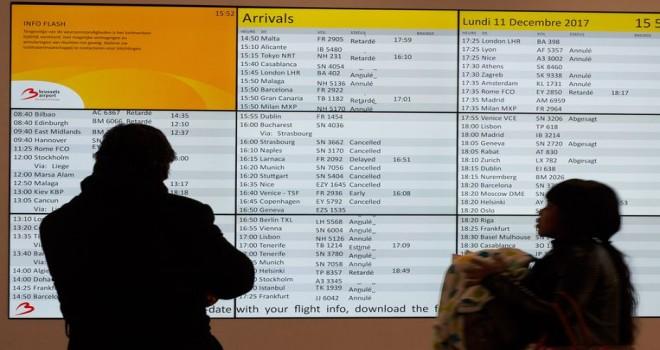 Brüksel Havalimanı'nda bugün de uçuş iptalleri ve gecikmeler bekleniyor
