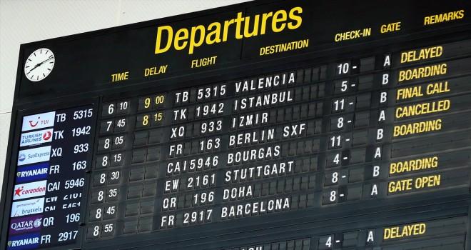 Ryanair pilotları greve gitti