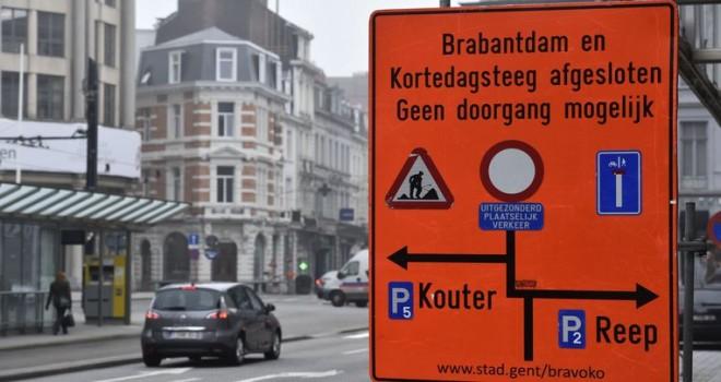 Gent'teki kaza sayısı, sirkülasyon planının başlatılmasından bu yana düştü