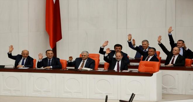 Seçim önergesi TBMM Genel Kurulunda kabul edildi