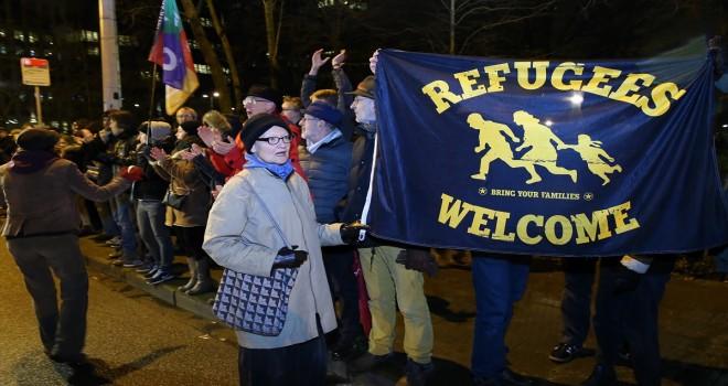 Belçika'da sığınmacılara destek