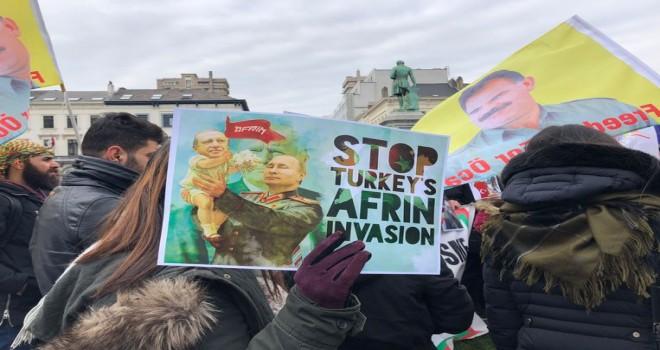 Brüksel'de Afrin harekatı'na karşı hafta içi boyunca protesto eylemi düzenlenecek