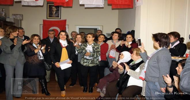 CHP Belçika Birliği'nin Kadın Kollarında görev dağılımı yapıldı