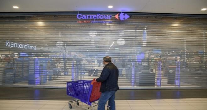 Belçika'da on altı Carrefour marketi protesto eyleminden dolayı kapalı