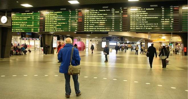 Belçika'da kamu çalışanları greve gitti