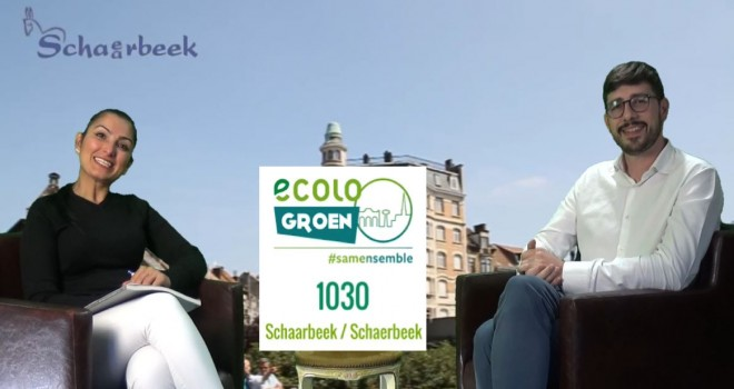 Arrêt sur Campagne Ecolo Groen Schaerbeek    Anthony Baert.