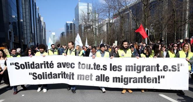 Brüksel'de ırkçılık protestosu
