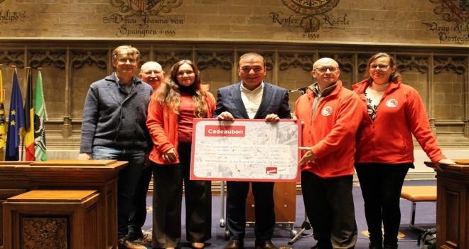 RESUL TAPMAZ Gent Spor Kulüplerini Belediye Salonunda kabul etti