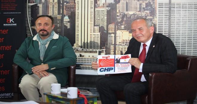 Belçika CHP Birliği Başkanı  Hasan Eryürük Bruxelles Korner'e konuştu