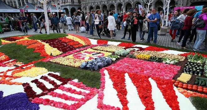Brüksel'de Çiçek Zamanı Festivali renkli görüntülere sahne oldu