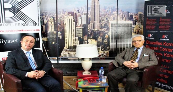 Yasar Tümbas (başkan )Bruxelles Korner'e konuştu