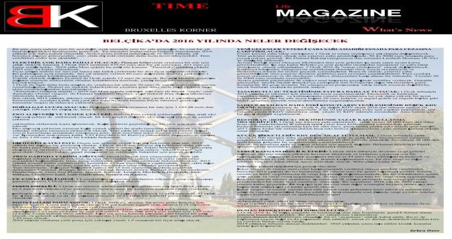 BRUXELLES KORNER Magazin 2016 1'inci baskısı