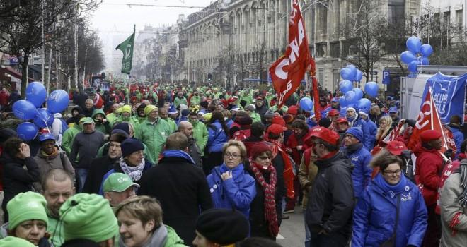 Belçika'da 1 günlük ulusal grev sonrası İşçi Federasyonu 'Müzakereye Hazırız' dedi