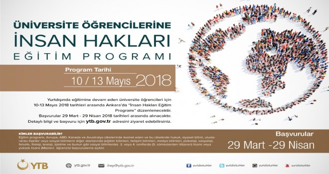 İnsan Hakları Eğitim Programı Başvuruları