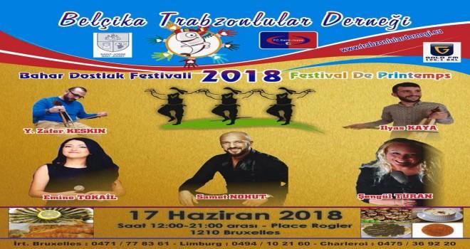 Belçikalı Trabzonlular Derneğinden 'Bahar Dostluk Festivali'