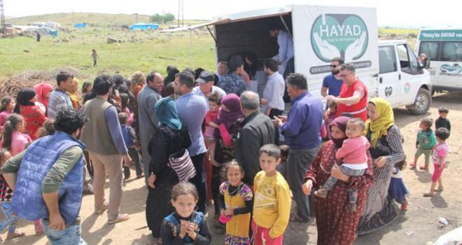 Belçika'da yaşayan Müslümanlardan Suriyelilere ramazan yardımı