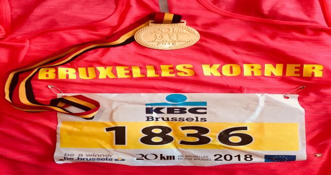 Bruxelles Korner, Brüksel maratonuna katıldı