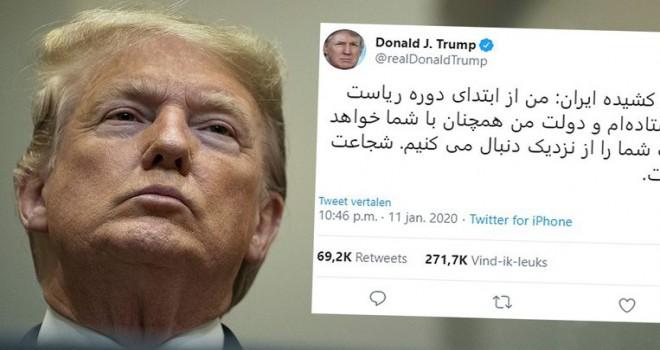 Trump'tan Farsça dilinde İran halkına 'ben sizin tarafınızdayım' mesajı
