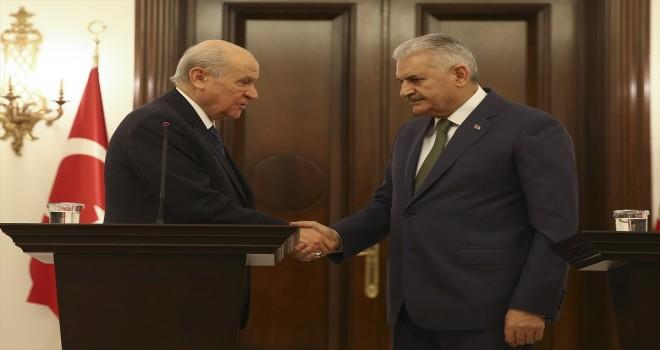 Başbakan Binali Yıldırım - MHP Genel Başkanı Bahçeli görüşmesi