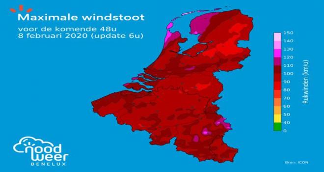 Ciara fırtınası nedeniyle Belçika genelinde 'turuncu alarm' verildi