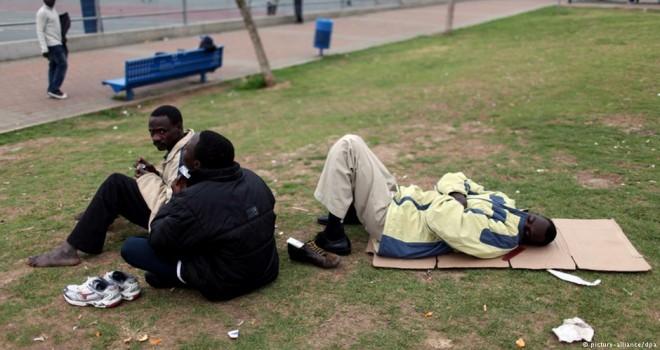 Brüksel'deki Sudanlı Sığınmacılar